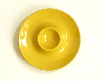Vintage yellow egg cup