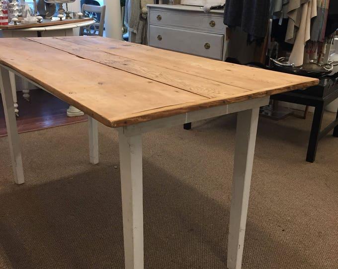 Vintage Hand Made Farm Table