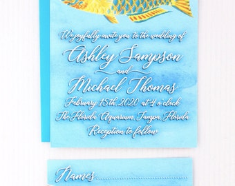 Tropical Fish Wedding Invitations for your Destination Wedding