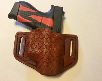 Custom Leather dragon scale HOLSTER for GLOCK 42