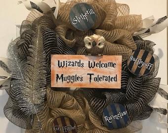 Harry Potter Themed Wreath