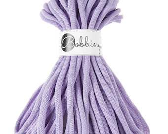 9mm Cotton Cord 22 yards (20 meters) - Lavender; giant macrame cord, chunky yarn, cotton rope, macrame string