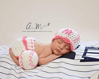 Baby Girl baseball bat - Crochet Baseball Diaper Cover - Baby Baseball outfit,  -crochet baby shower gift - newborn baseball - baseball team