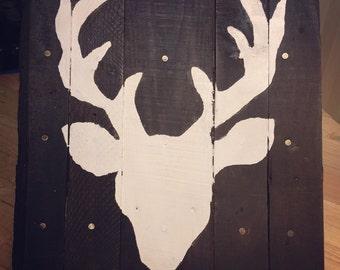 Buck Head Pallet Sign