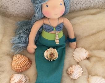 Reserved for Jennifer until 30.04.2018 -Aliyah Handmade Waldorf Doll, Steiner doll, oak doll 33cm (13in)