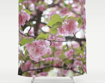 Shower Curtain, Cherry Blossom, Pink Shower Curtain, Central Park, New York  City