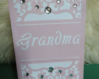 "Happy Mother's day Grandma Greeting Cards, 5x7"" Handmade Greeting card"