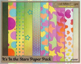 It's In the Stars - Digital Scrapbook Background Paper
