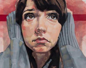 """Original Oil Painting Portrait Art, Emotional Portrait, Contemporary Realism Painting - """"The Hum"""""""