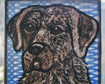 Retriever Stained Glass Dog Suncatcher JRN74