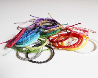 Friendship bracelet, knotted bracelet, thread bracelet, simple bracelet multicolor, surf bracelet macrame, woven bracelet, beach bracelet