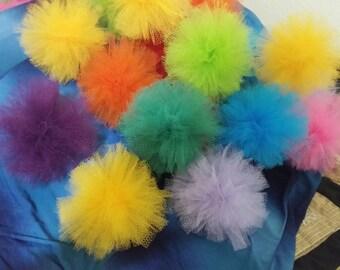 Set of 8 Nylon Net Scrubbies Net Dish Rag, Cleaning Supply, Net Scrubbier, Car Wash Scrub, Net Ball