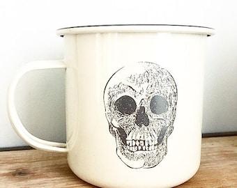 Skull Enamel Mug