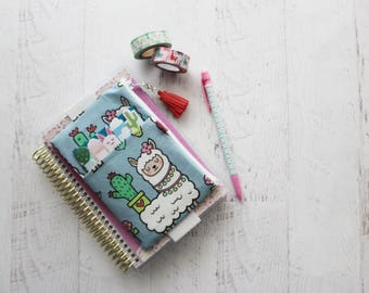 Llama bag - pencil pouch - mini happy planner cover - llama planner accessories - small TN cover - zippered pouch - alpaca pouch