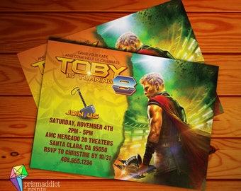 Thor Ragnorak Birthday Invitation NEW for 2017 (Digital File)