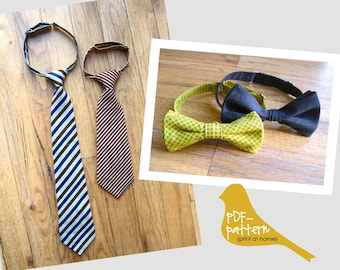 Adjustable Child Tie & Bow-tie PDF (INSTANT DOWNLOAD Sewing Pattern)