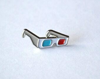 3D Glasses Pin