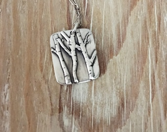 Take Me To The Trees Necklaces, Tree Necklace, Aspen Necklace