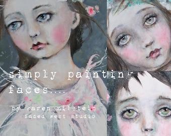 online portrait painting class simply painting faces... karen milstein