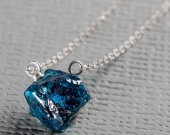 Apatite Little Rock Necklace- Choose your stone