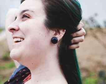 Blue Goldstone Earrings, Crystal Earrings, Blue Goldstone Studs, Blue Earrings, Gemstone Earrings, Stainless Steel Earrings, Gifts For Her