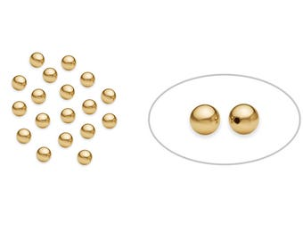 50 Pcs 3 mm 14K Gold Filled Round Beads Seamless (GF520103)