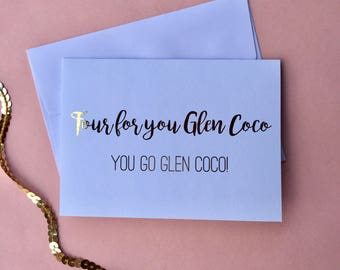 "Gold Foil ""Mean Girls"" Inspired Greeting Card"