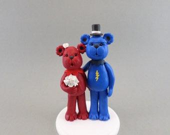 Personalized Bear Wedding Cake Topper