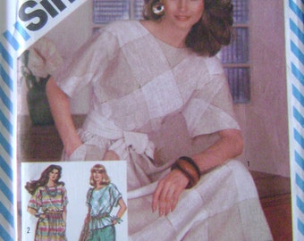VINTAGE Simplicity Pattern 5975 Misses' Skirt in Two Lengths, Pants and Pullover Top