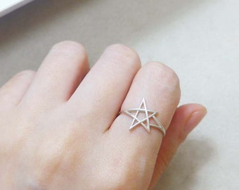 twinkle star silver ring
