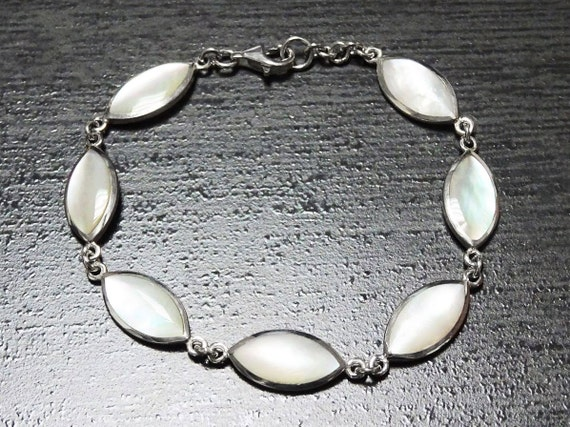 Sterling Silver, MOP, Bracelet, White, Original, Unique, Women, Paypal, Fast Shipping, Mother of Pearl, Elegant, Jewelry, Urban, Modern, 925