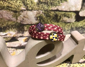 """Wrap bracelet """"dill blossoms and triangles"""""""