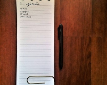 List Printable for Custom Notepad - Half Vertical Size