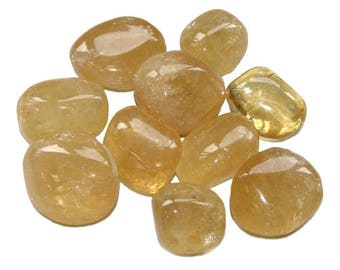 Rolled 2-3cm yellow calcite stone