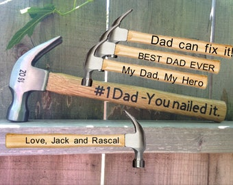 Father's Day Gift, Hammer, #1 Dad, You nailed it, Gift for dad, Father's Day, Tools, Garage, Novelty Gift