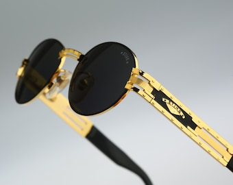 Sting 4170 101, Vintage oval sunglasses, 90s mens & women rare and unique / NOS
