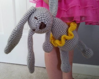 Crochet bunny/ stuffed animal/ toy/ rabbit/