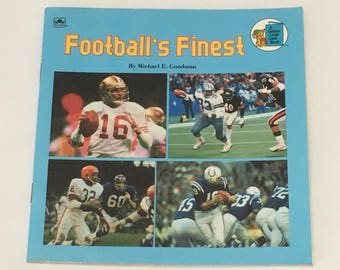 Football's Finest By Michael E. Goodman - Vintage Children's Book - NFL