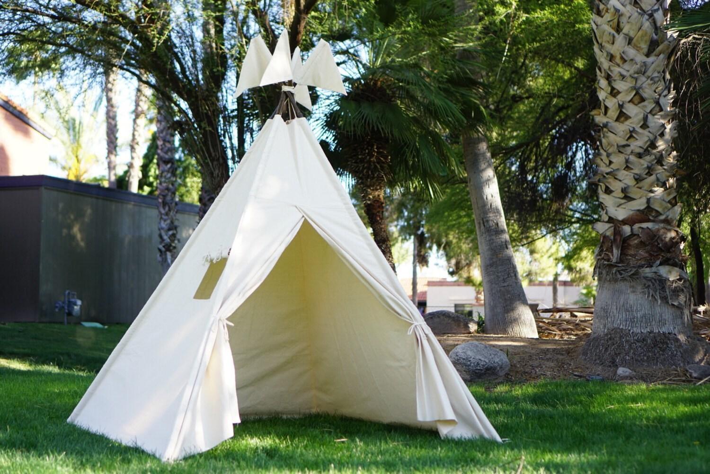?zoom & XL plain teepee 8ft kids Teepee beach tent large tipi Play