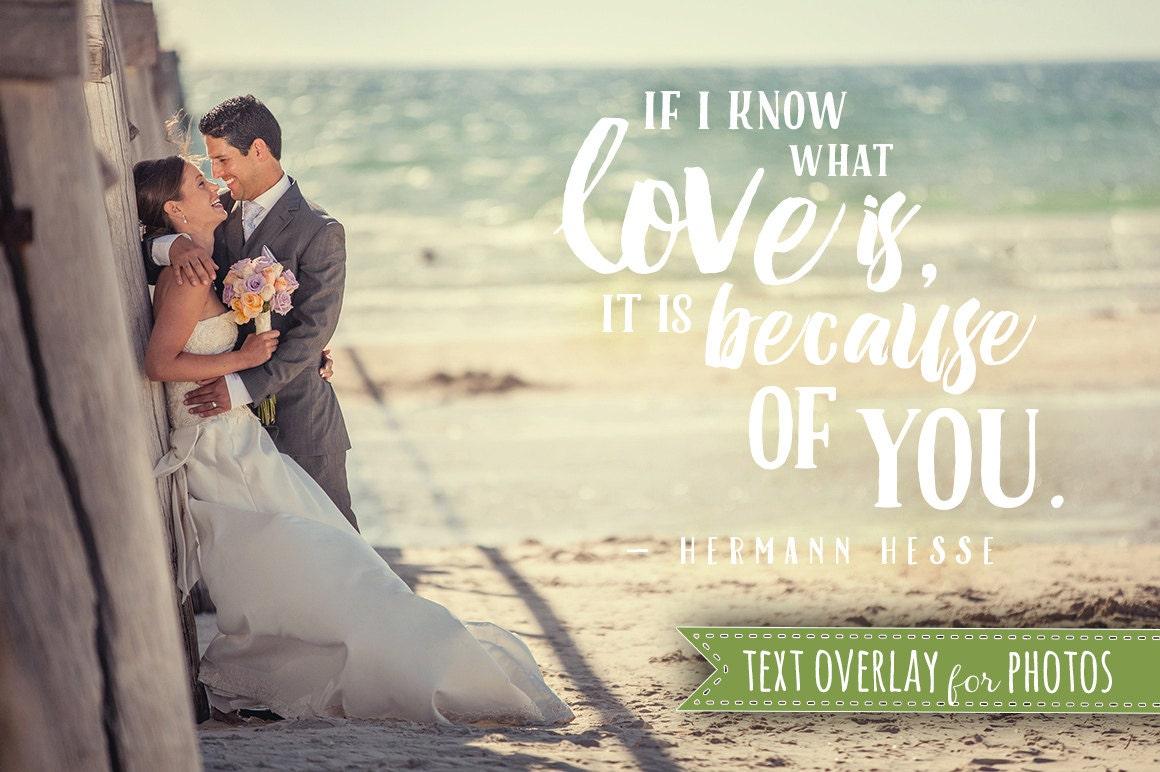 Love Soul Quote Word Overlay Love Wedding Phrase Photo