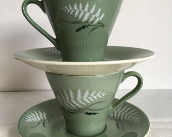 Figgjo Flint Ice Fern cup and saucer 1960s