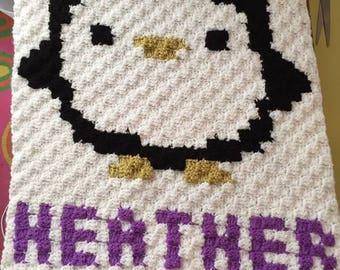 Penguin cushion cover