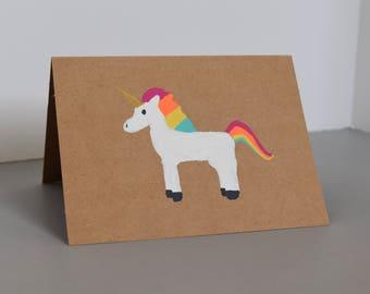Magical Unicorn Greeting Card - Rainbow