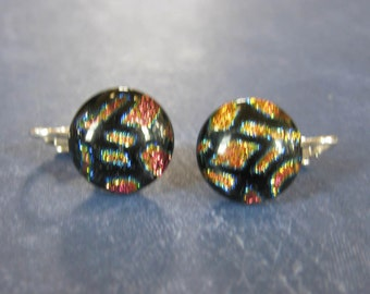 Colorful Post Clip on Earrings, MultiColored Clipon Earrings, Non Pierced Earrings, Clip On Studs, Clip On Jewelry - Sierra - 324 -4