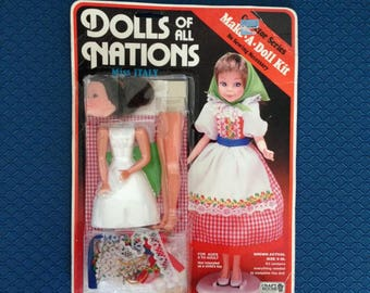 Dolls of All Nations, Make-A-Doll Kit, Italy-FreeUS Shipping