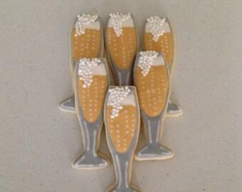 Champagne Glass Sugar Cookies
