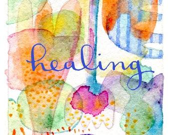 Healing Matted Fine Art Print