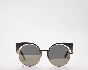 60's Cat Eye/Retro SG - Rose Gold Frame W Dark Brown Len - 1.3 oz. - UV 400 Protection // Women sunglasses / Reading glasses / Glasses