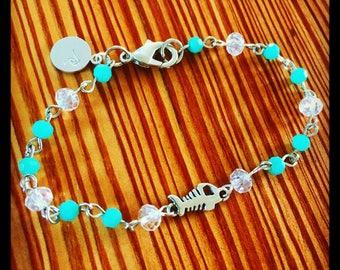 Beaded bonefish bracelet