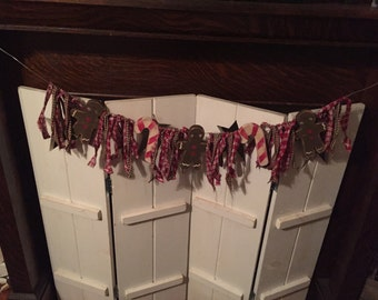 Gingerbread and Candy Canes garland